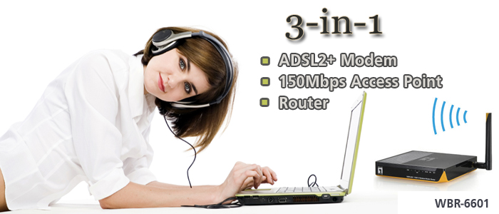 WBR-6601 150Mbps N Wireless Modem Router